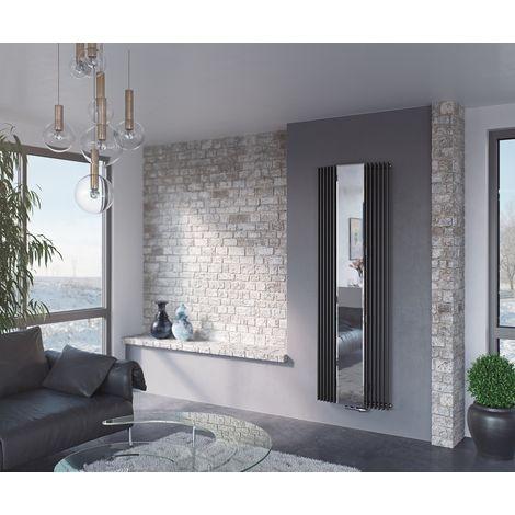 Eucotherm Corus Mirror single Panel Vertical Designer Radiator White 1800mm X 600mm