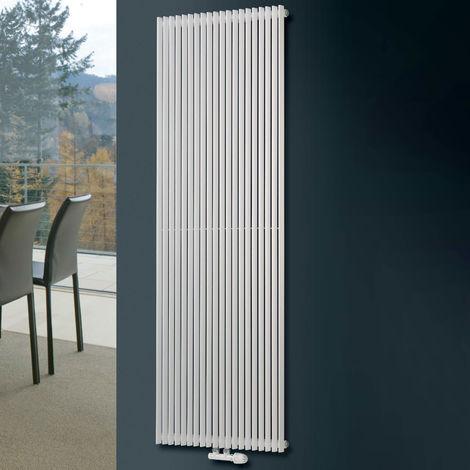 Eucotherm Corus Single Panel Designer Vertical Radiator White - choose size
