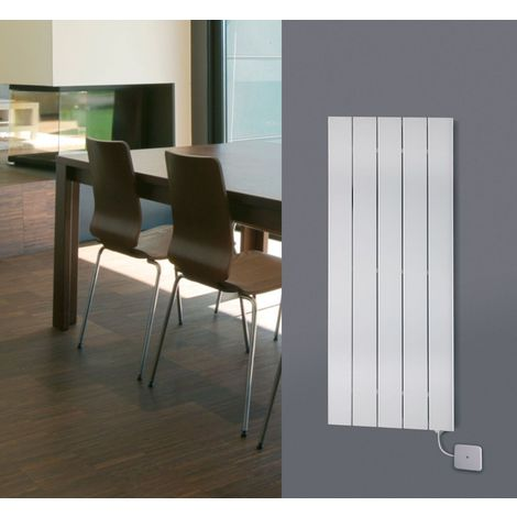 Eucotherm Electro White Electric Flat Tube Single Panel Designer Vertical Radiator - choose size