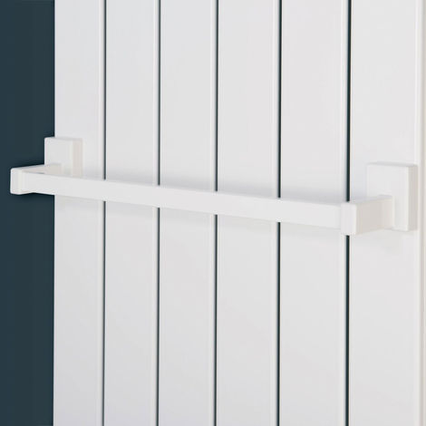Eucotherm Magnetic Steel Radiator Towel Bar 400mm White