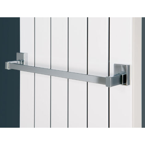 Eucotherm Magnetic Towel Rail Fit Steel Radiator Chrome 400mm