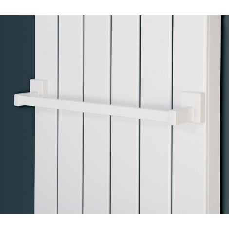 Eucotherm Magnetic Towel Rail Fit Steel Radiator White 400mm