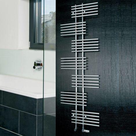 Eucotherm Parallel Single Vertical Designer Towel Rail Chrome 1762mm X 650mm