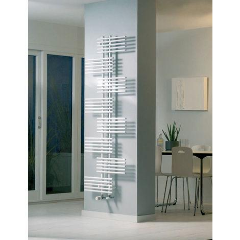Eucotherm Parallel Single Vertical Designer Towel Rail White 1762mm X 650mm