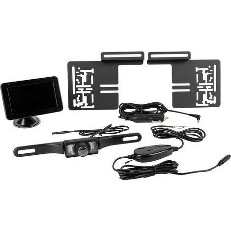 """main image of """"Eufab Système de recul vidéo sans fil lignes de guidage pied à ventouse, support de marquage noir D945131"""""""