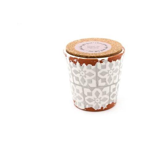 Eura Bougie Eura poterie 10x10cm Feuilles de figuier
