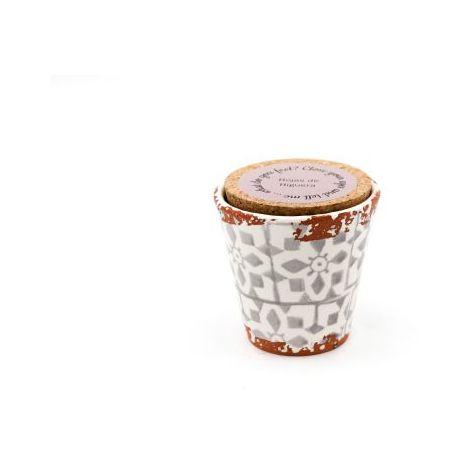 Eura Bougie Eura poterie 8,5x8cm Feuilles de figuier