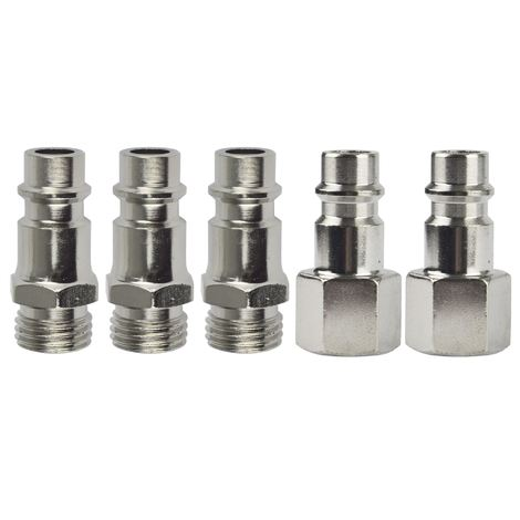"""Euro Compressor Air Line Tool 1//4/"""" BSP Male Thread Quick Coupler Fitting Set Kit"""