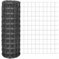 Euro Fence 10x1.96 m with 100x100 mm Mesh Steel Grey