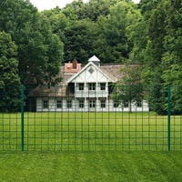 Euro Fence Set 20x1.5 m Steel Green