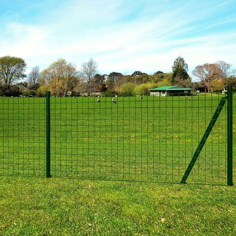 Euro Fence Steel 25x0.8 m Green
