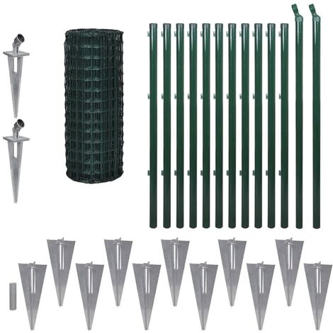 Euro Fence Steel 25x1 m Green