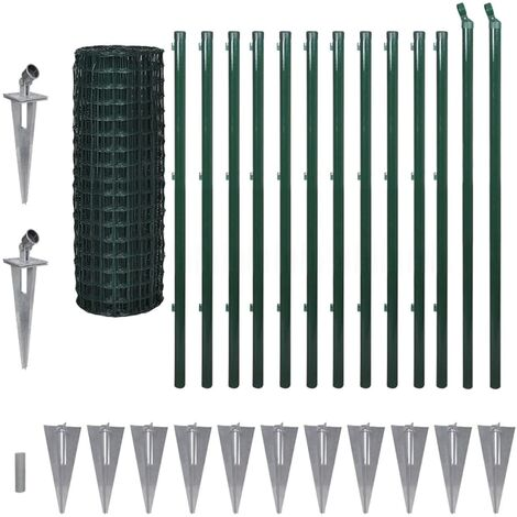 Euro Fence Steel 25x1.2 m Green