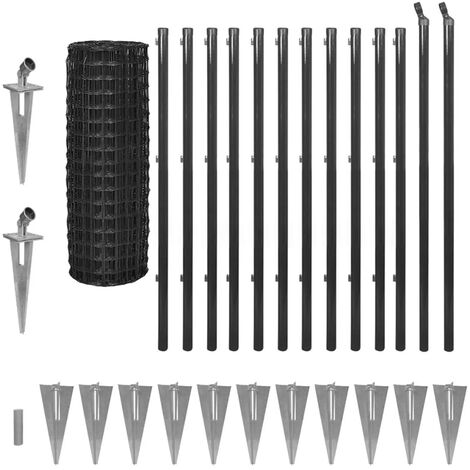 Euro Fence Steel 25x1.2 m Grey