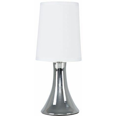 EURO Small Trumpet Touch Table Lamp Chrome White