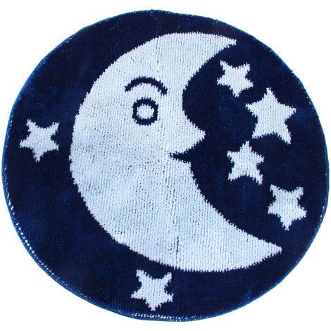 Eurobano Moon Bath Mat (100cm x 100cm) (Blue)