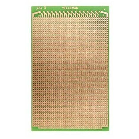 Eurocard pastille 3 trous - 100 x 80 mm - fr-4 (1pc/bl)