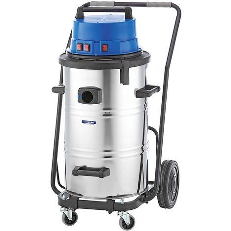 EUROKRAFT Aspirateur eau et poussières - aspirateur industriel, 3600 W - cuve 95 l