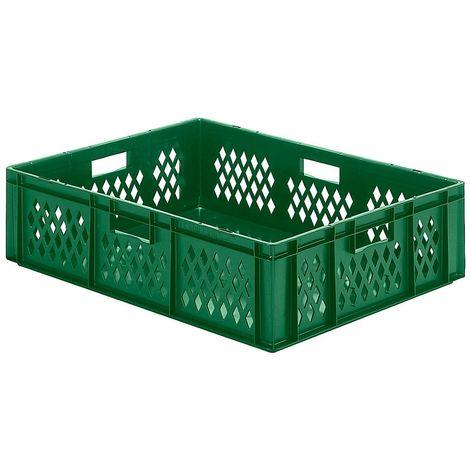 EUROKRAFT Bac gerbable emboîtable en polypropylène qualité alimentaire - capacité 70 litres, lot de 2 - parois et fond