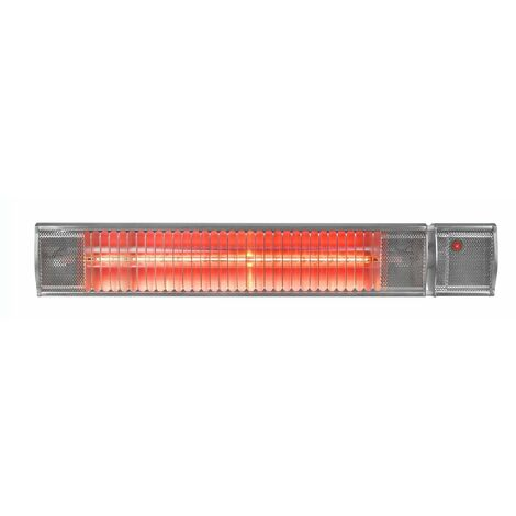 Eurom 334524 Golden 2200 Comfort RCD Calefacción de terraza - Mando a distancia incluido- 2200 W - 600 x 110 x 110 mm