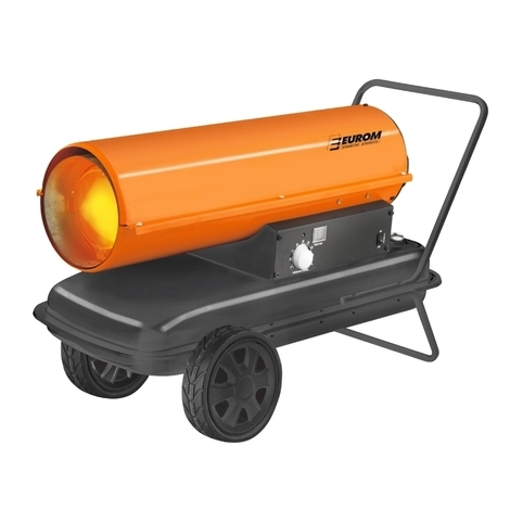 Eurom OK37T générateur d'air chaud 37 KW Diesel
