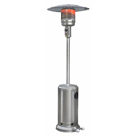 Eurom THG 14000 Calentador de gas de acero inoxidable para patio - 14000W - 800 x 455 x 2200mm