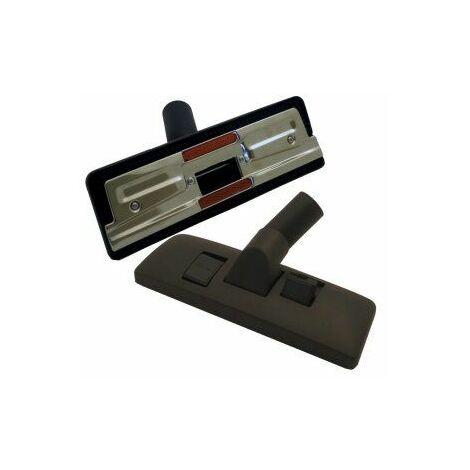 Europart Universal Brosse d\'aspirateur universelle en plastique de qualité supérieure avec pédale deux positions Noir 270 x 32 mm