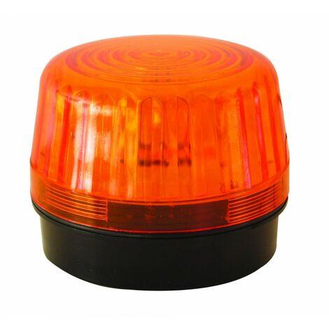 EUROPE AUTOATISMES SL24AC Feu Clignotant Orange 6-12-24V AC Amoule Xenon pour Portail ou Garage