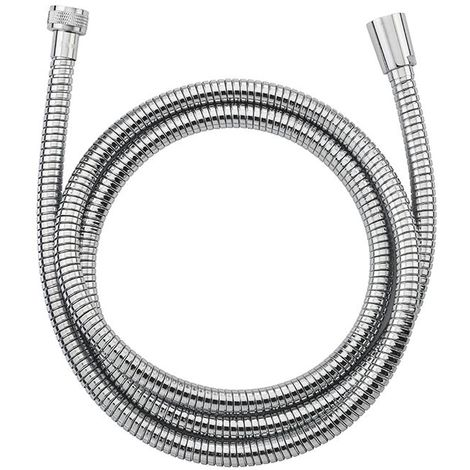 EUROSANIT Flexible nf inox double agrafage chromé extensible long.1.75 à 2.25 m