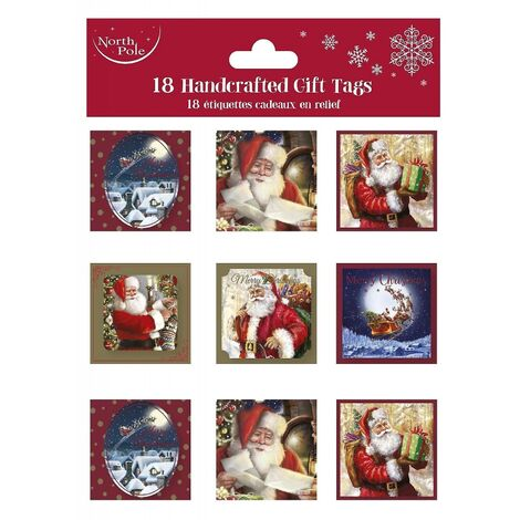 Eurowrap 18 Xmas Traditional Gift Tags (Pack of 12) (One Size) (Multicoloured)