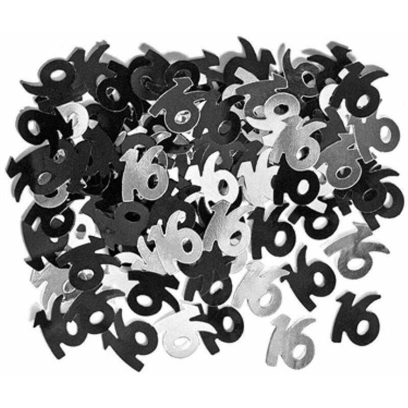 Image of Black-Silver Confetti (16) (Black/Silver) - Eurowrap