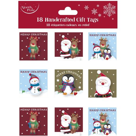 Eurowrap Christmas Cute Gift Tags (Pack of 216) (One Size) (Multicoloured)