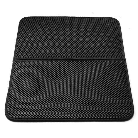 Eva Cat Litter Mat antideslizante impermeable doble capa para caja de arena negra 40 * 50 cm Hasaki