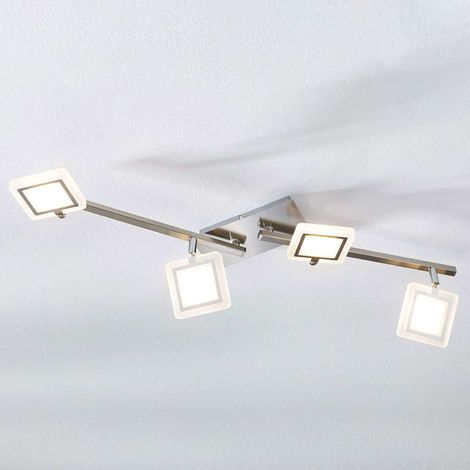 Evelina LED ceiling spotlight, four-bulb
