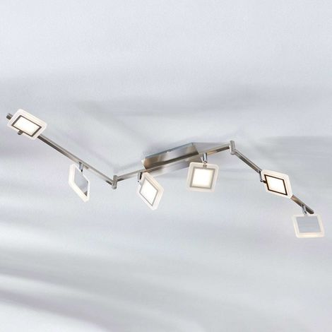 Evelina LED ceiling spotlight, six-bulb