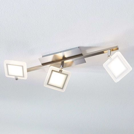 Evelina LED ceiling spotlight, three-bulb