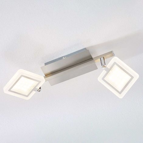 Evelina LED ceiling spotlight, two-bulb