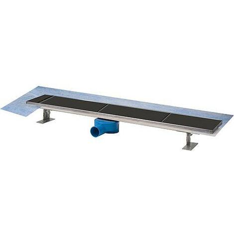 Evenes Bonde de douche 800 mm grille pouvant etre carrelee inclus