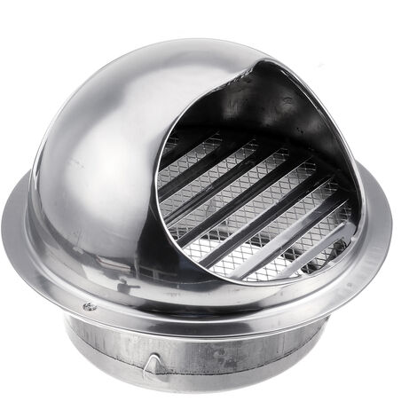 évent Couvercle de grille d'échappement de ventilation de conduit d'aération de mur d'acier inoxydable 150mm