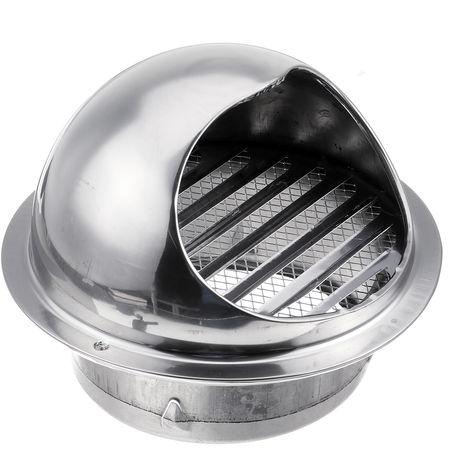 Évent TCouvercle de grille d'échappement de ventilation de conduit d'aération de mur d'acier inoxydable 100mm