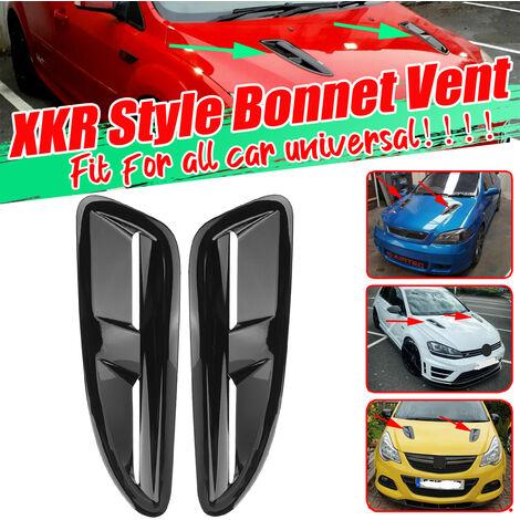 évents de capot ABS de Style XKR noir brillant prises d'air prises d'air pour BMW VW Jaguar Audi Mercedes Honda Mustang
