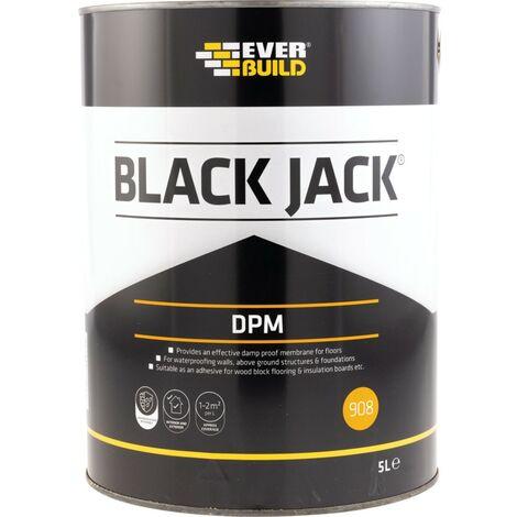 Ever Build 908 Everproof DPM Black Bitumen Paint - 5LTR