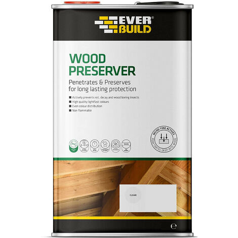 Everbuild 1 Litre Clear Interior and Exterior Wood Preserver Solvent Free