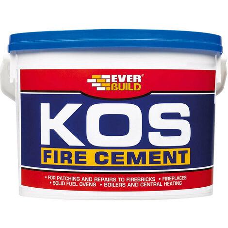 EVERBUILD 12.5kg KOS Fire Cement Black High Temp upto 1250 Degrees