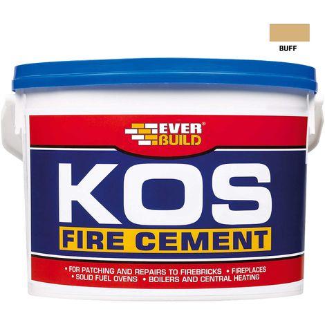 EVERBUILD 12.5kg KOS Fire Cement Buff High Temp upto 1250 Degrees