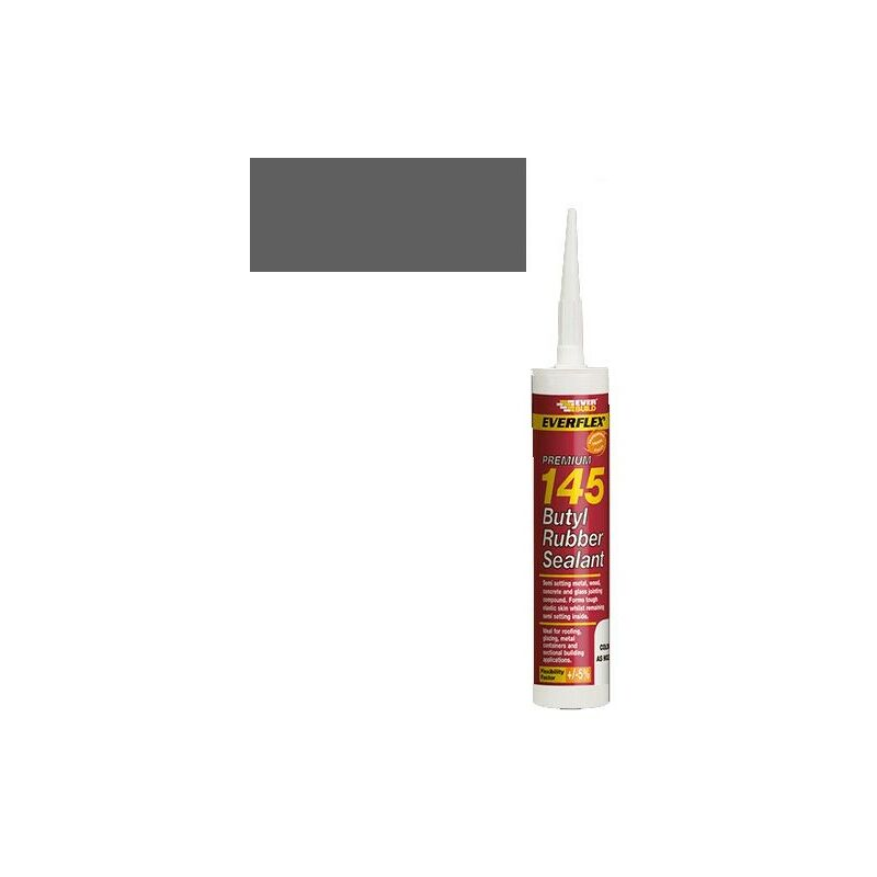 Image of Everbuild 145 Butyl Rubber Sealant Grey C3 Size Cartridge