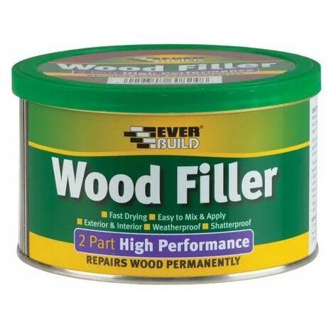 Everbuild 2 Part High Performance Wood Filler Redwood 500g