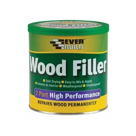 Everbuild 2 Part High Performance Wood Filler Stainable Medium 1.4kg