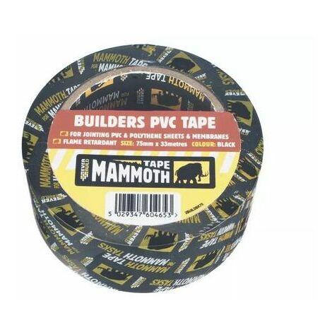 Everbuild 2BUILDBK50 Builders PVC Tape Black 50mm X 33 Metre