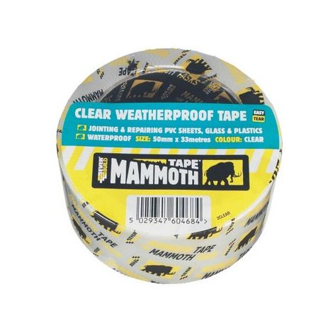 Everbuild 2CLEAR10 Clear Weatherproof Tape Clear 50mm X 10 Metre